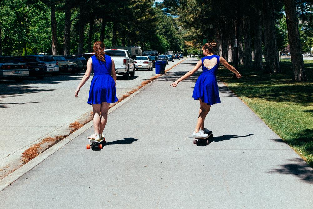 Skater chicks.