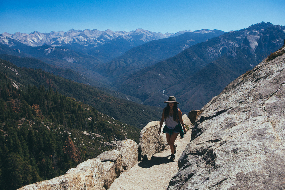 The hike up Moro Rock is short, but still as rewarding as some  crazier hikes .