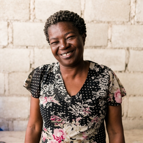Elda Jean Marie  Elda, the brand's very namesake. Nurturing, caring, with a heart big enough to love 30 orphaned children as her own. She has been sewing for most of her life, and has had a vision to see this workshop take root for over 30 years. Finally, the day has come.
