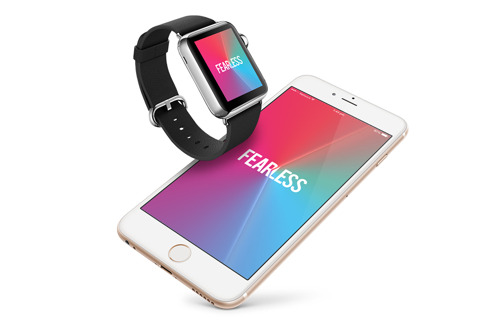 Fearless iPhone and Apple Watch app