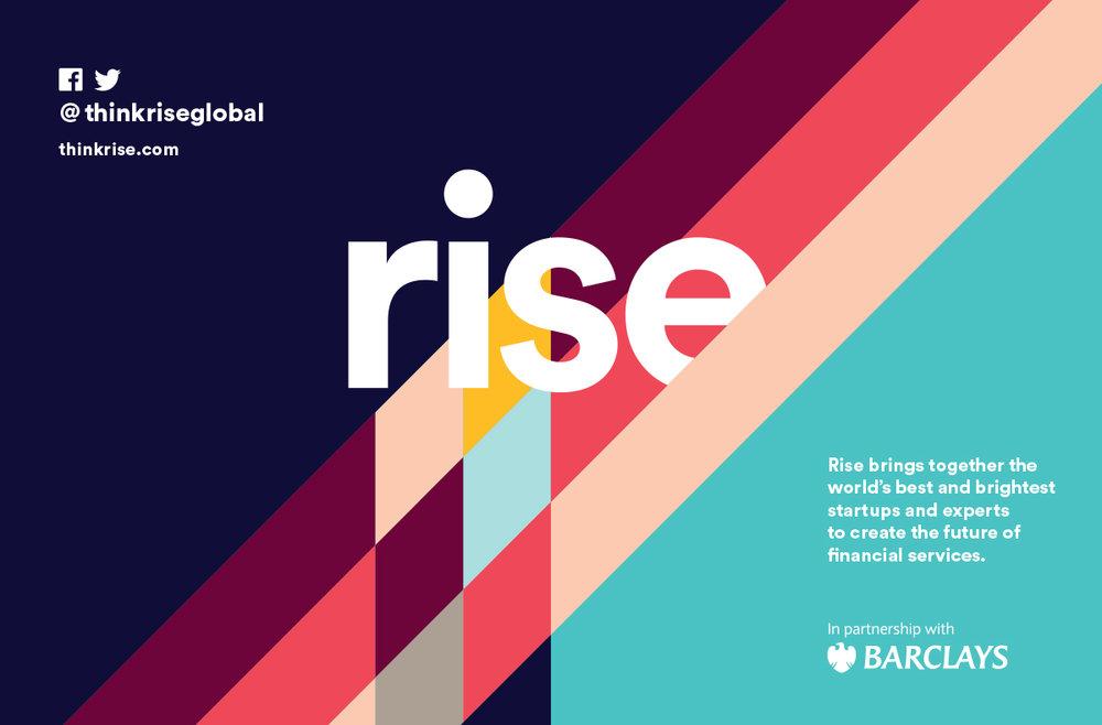 Rise Exhibition signage