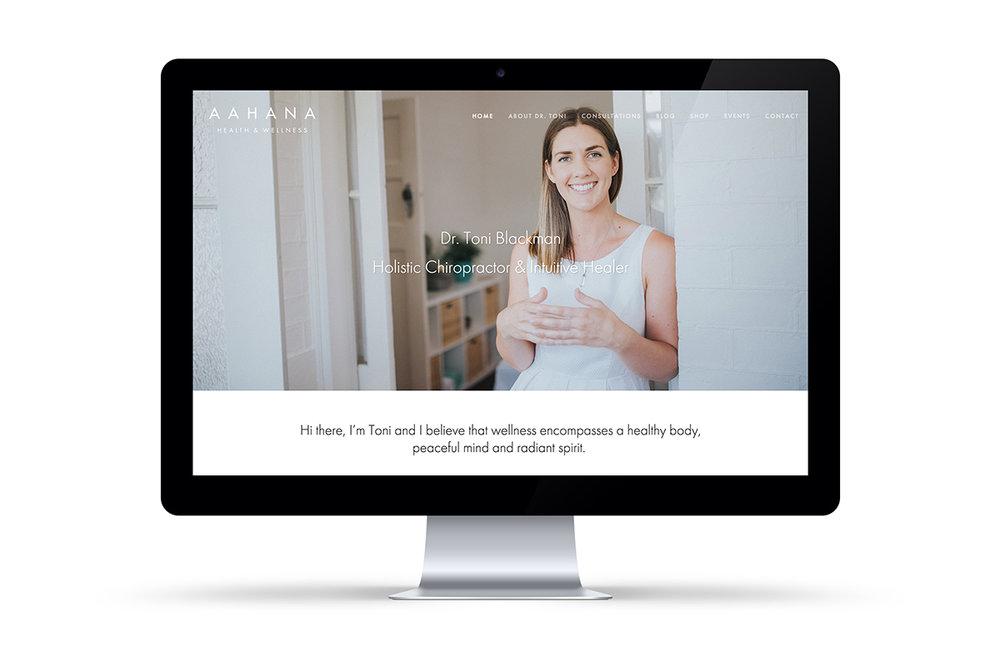 Aahana Wellness chiropractic website