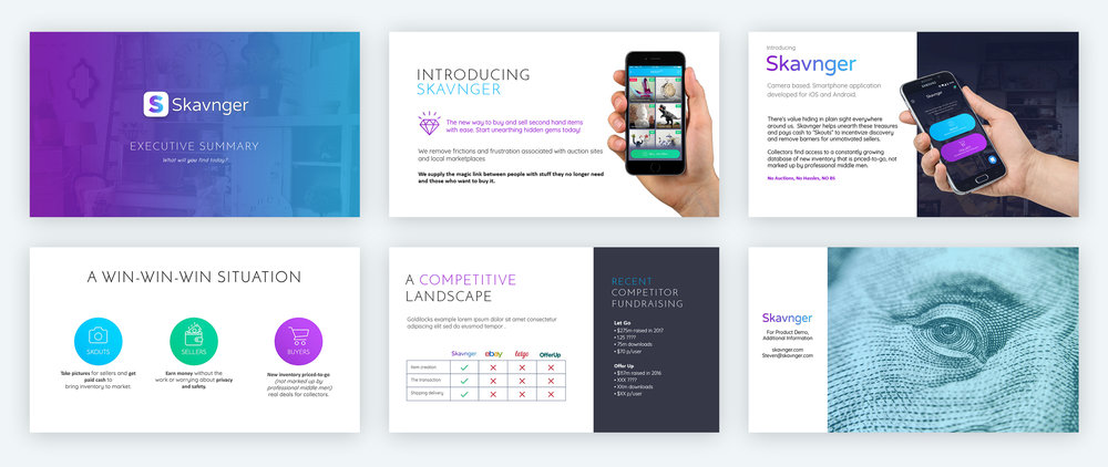 Some screens from the Powerpoint investor deck.