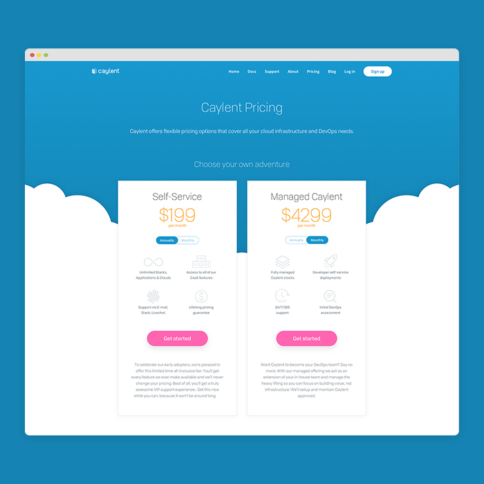 - Caylent pricing page
