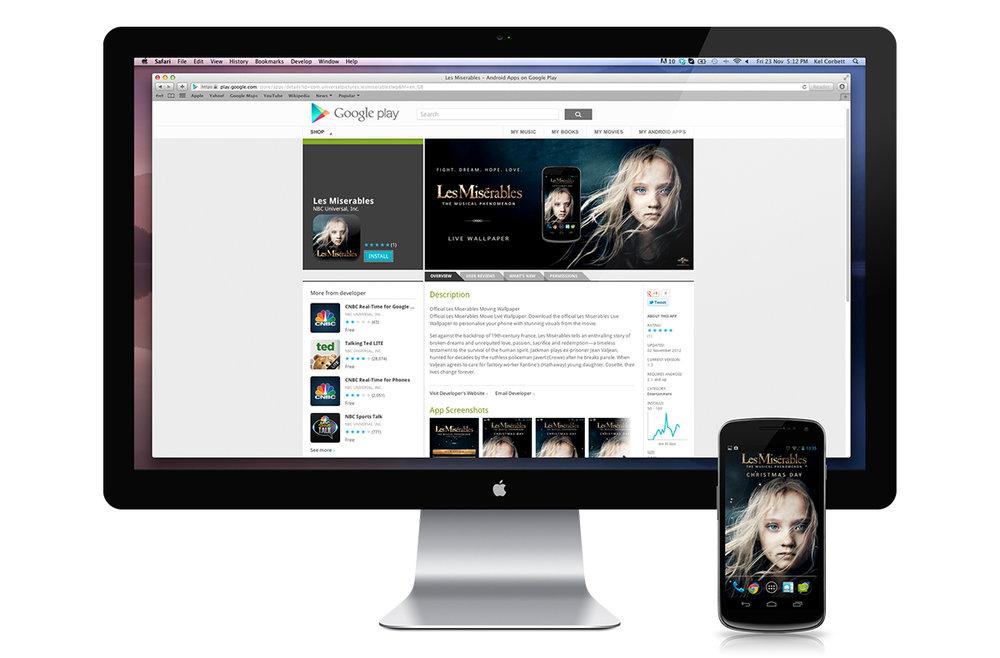 Google Play  Les Misérables  download screen.