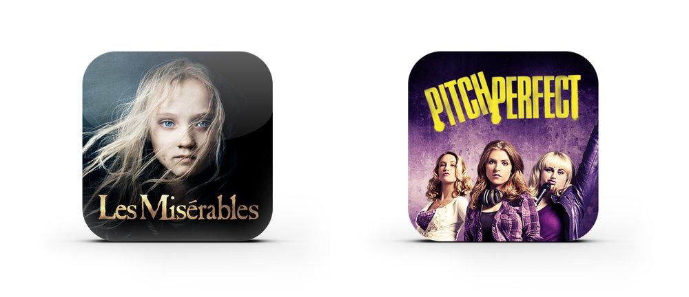 App icons.