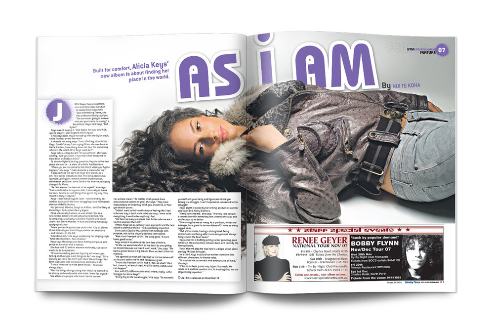 Article design for STE Magazine. Designed at    The Sunday Times   , Perth, 2010.