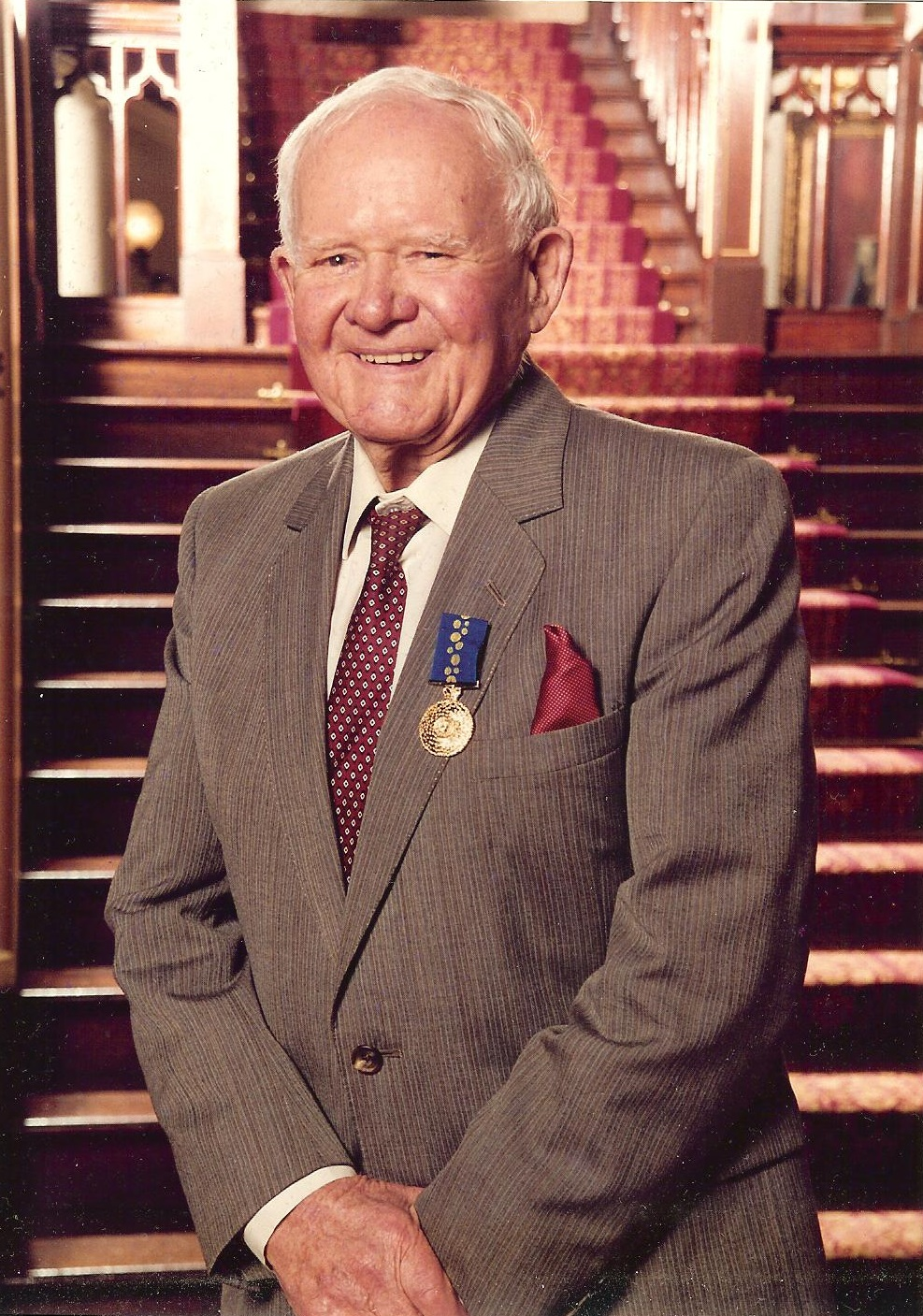 Harold Halvorsen awarded an OAM in October 2000. Age 90. This prestigious honour was awarded to him for his outstanding boat building contribution to the WWII war effort in which 247 craft were built and delivered at Lars Halvorsen Sons Pty Ltd Ryde for the US, Dutch and Australian Navy's from 1939 through to 1945 under his leadership.