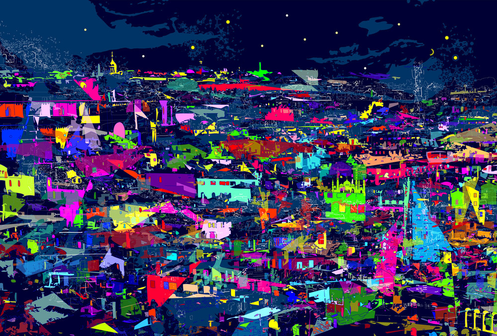 City Night (Running wild under starry sky, neon brights and moonlight)