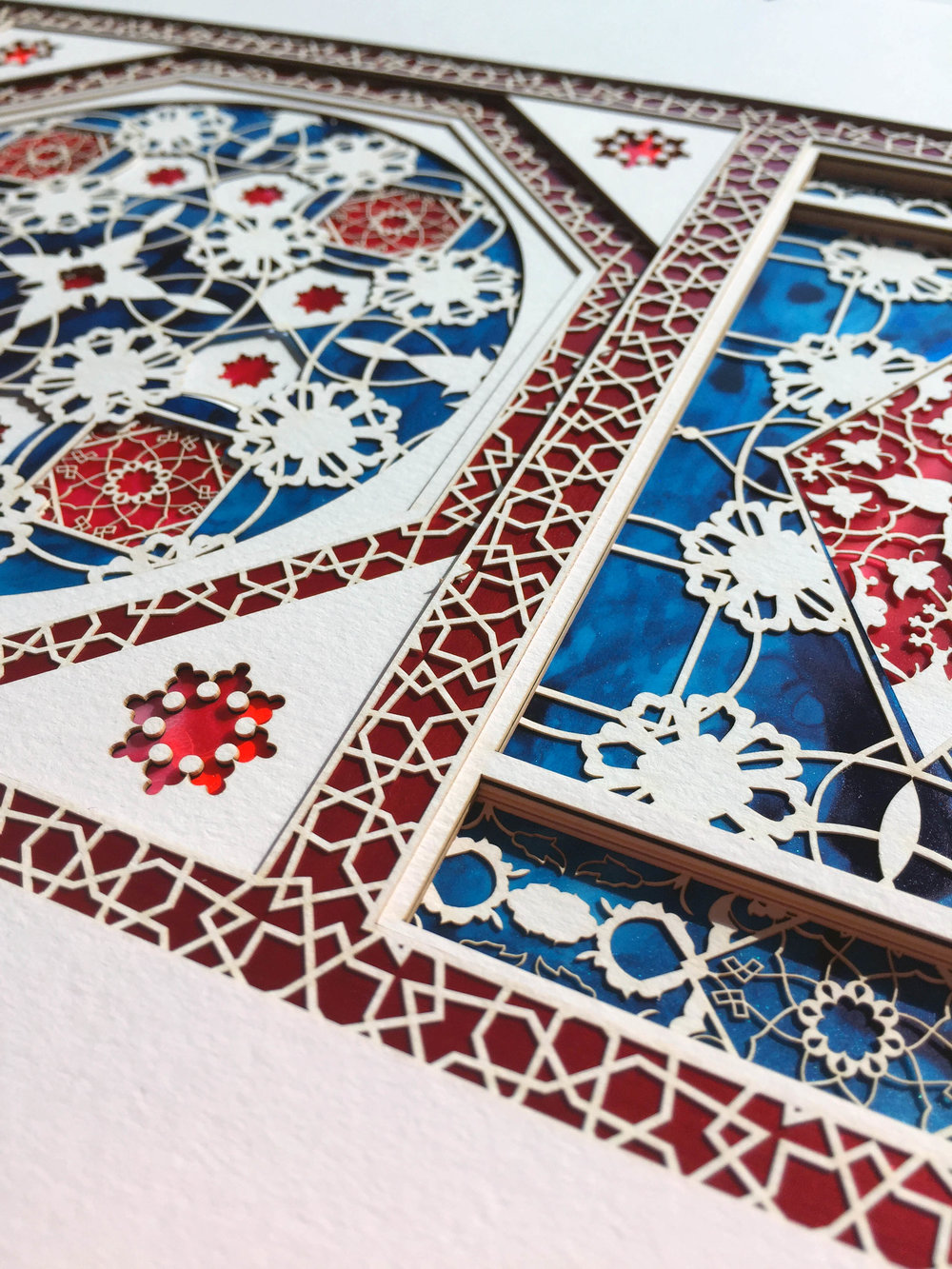 Detail from Inlays in Red and Blue