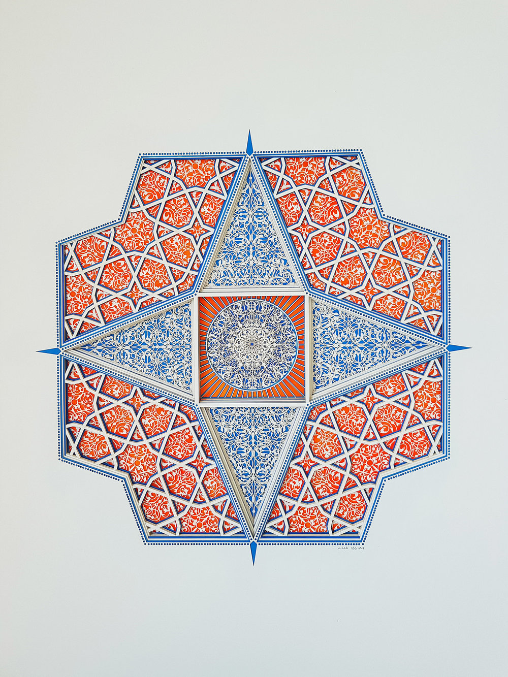 Untitled Study (Touba)-45x60-lasercut paper over ink on mylar-Julia Ibbini - $2500.jpg