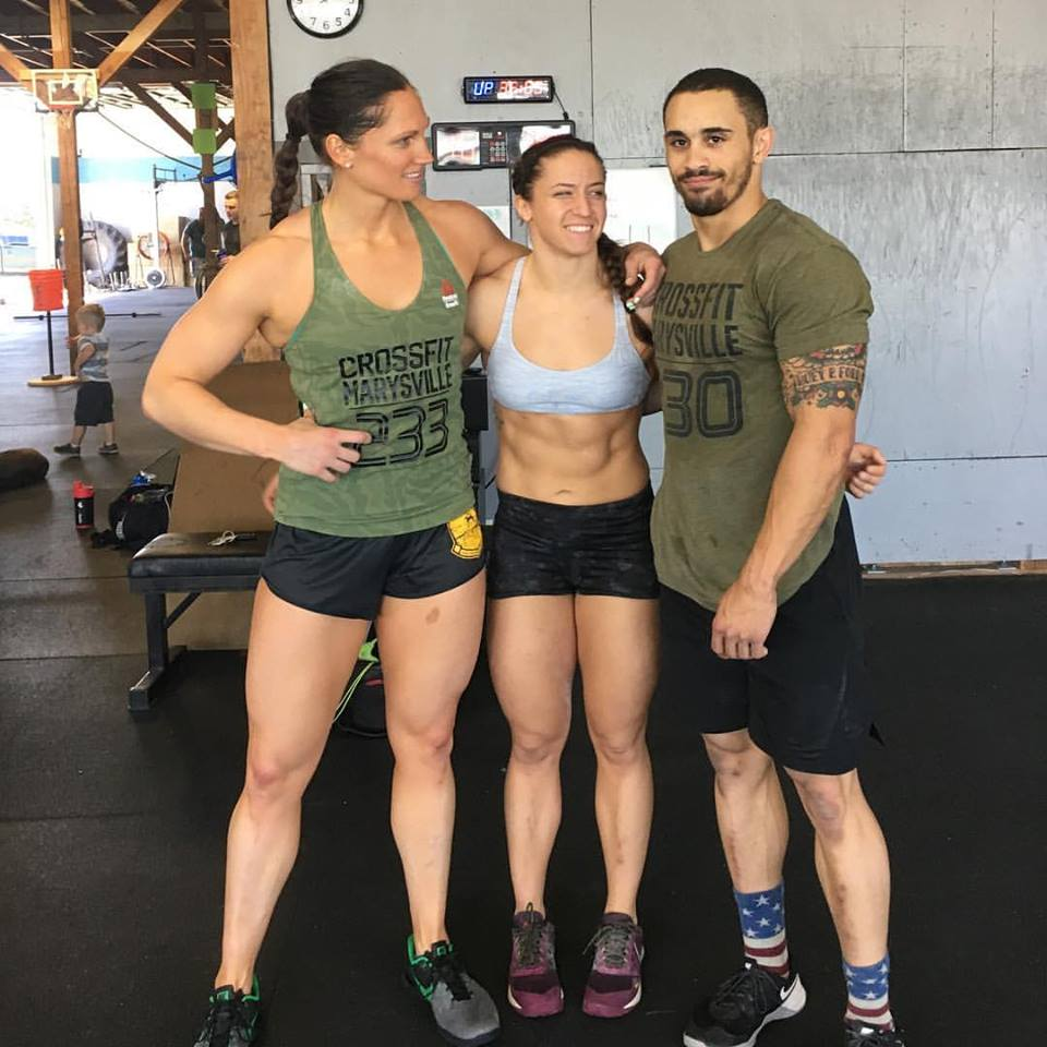 Ware trains with the CrossFit Marysville crew on the weekends