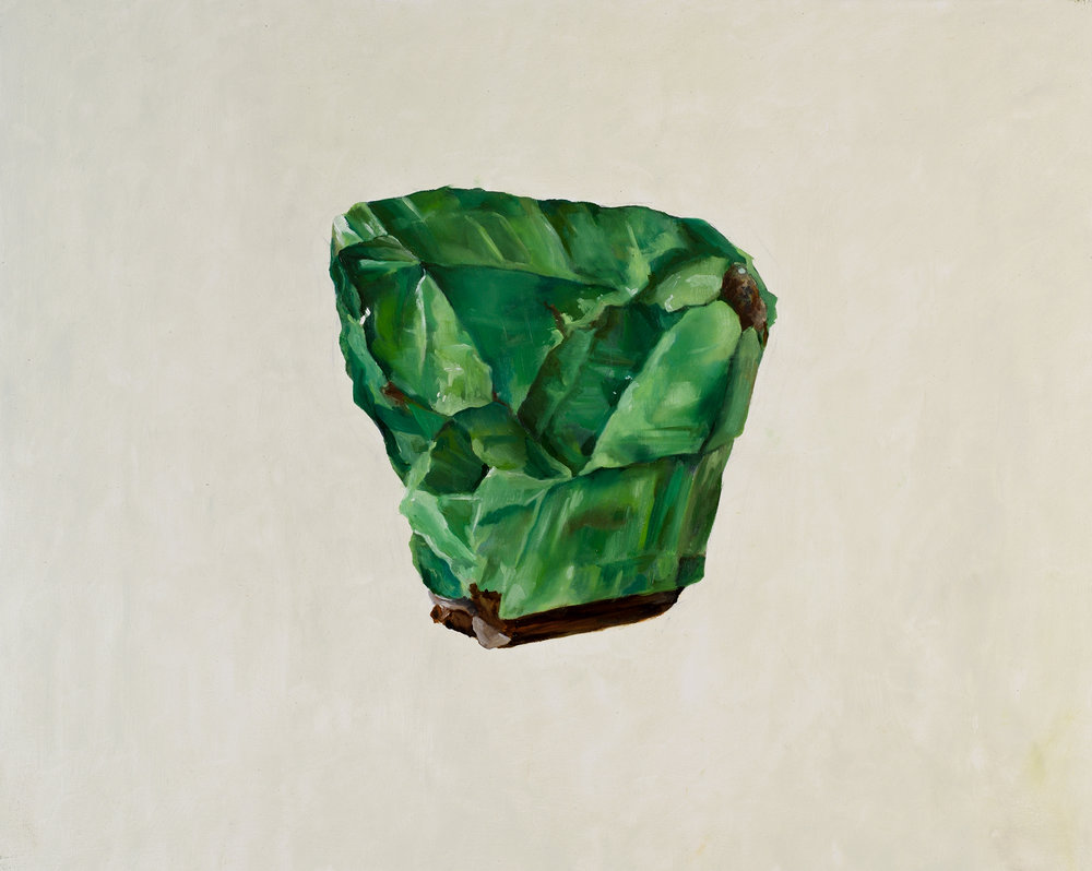 Green Calcite, oil on wood, 2016.jpg
