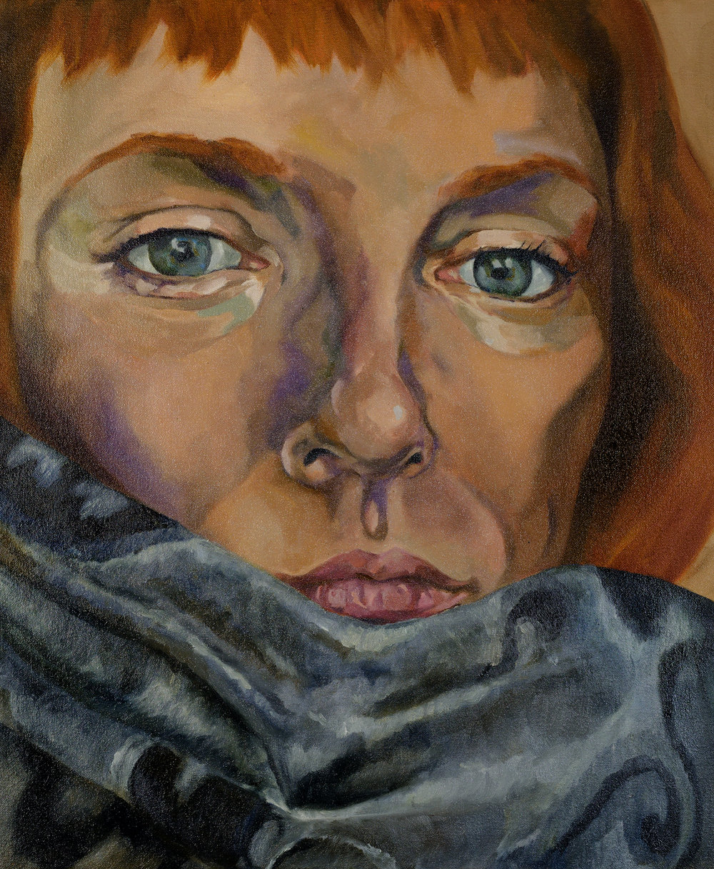 self portrait with Pashmina, Oil on Canvas, 2k max.jpg