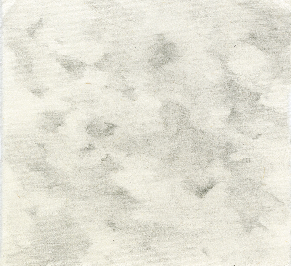 Clouds Pencil on Handmade Paper 6.5x6.jpg