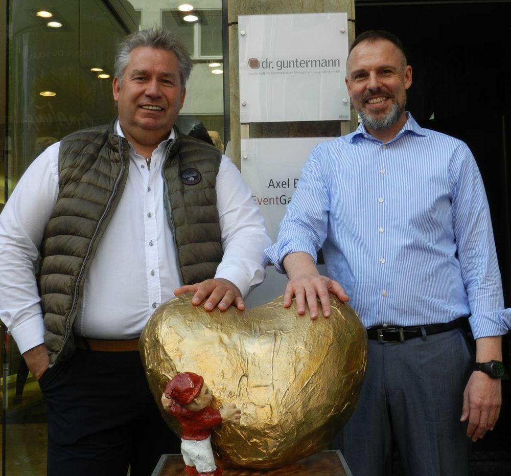 """""""Dat Hätz för Kölle"""" mit Stefan Keren, Geschäftsführer der Matthias Keren GmbH und Dr. Thomas Guntermann, Geschäftsführer der Dr. Thomas Guntermann Gesellschaft."""