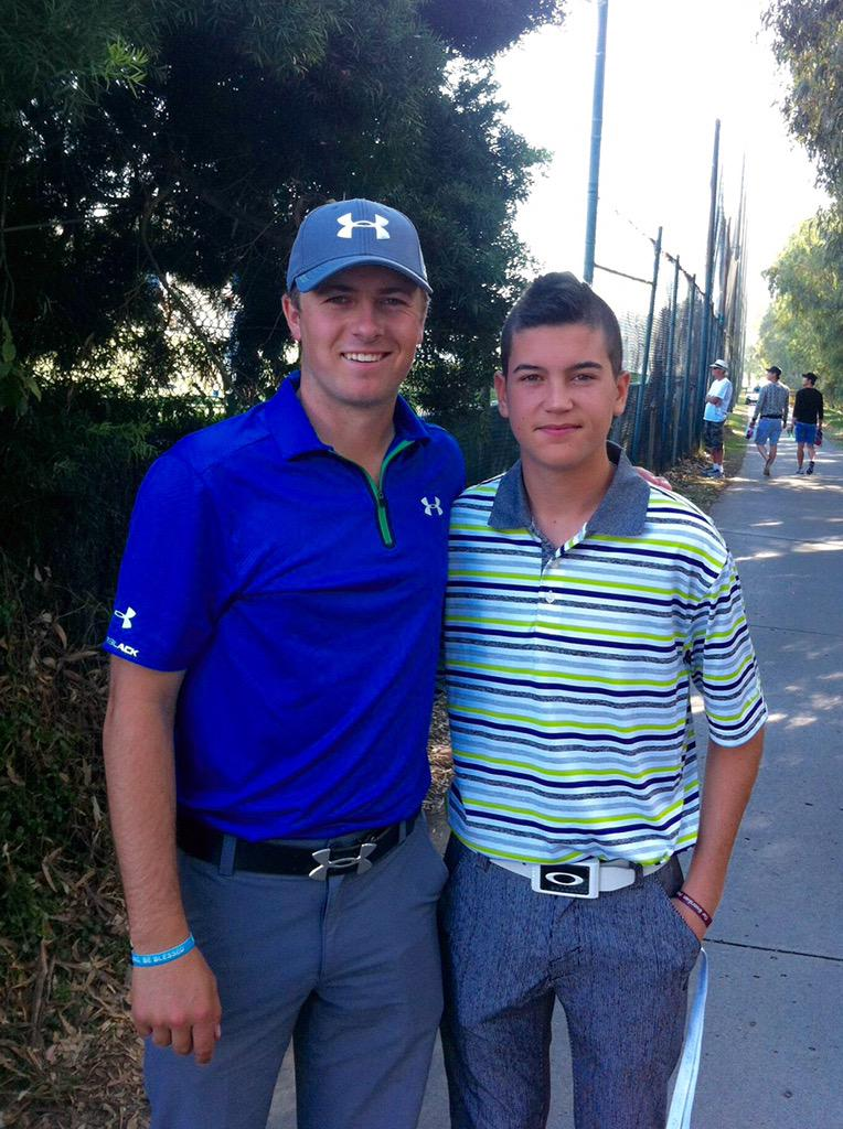 Briggs Berry with Masters champion Jordan Spieth, from @BenRogers twitter account