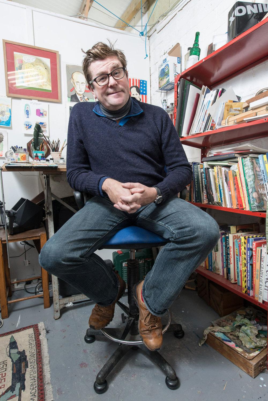Guy Venables Cartoonist Portrait