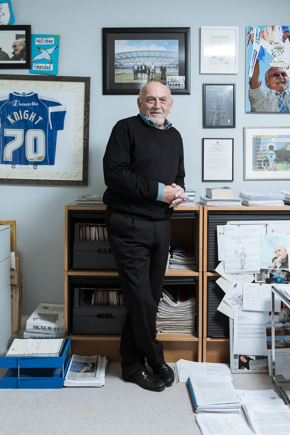 Dick Knight - Brighton & Hove Albion Chairman Portrait