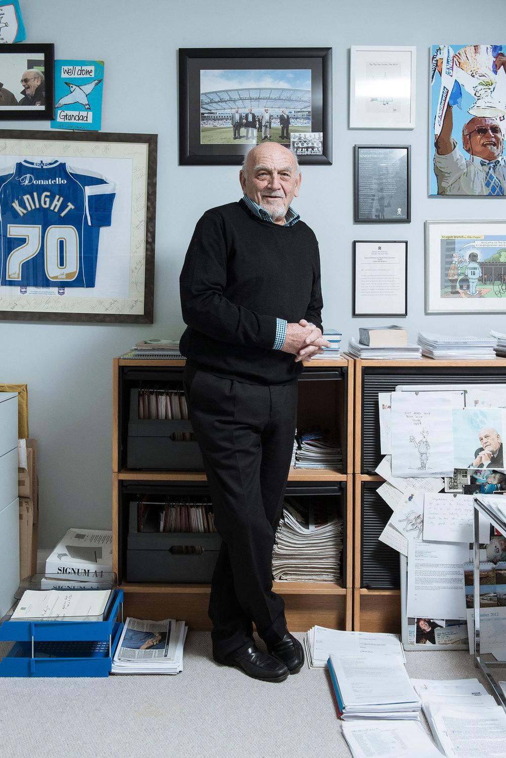 Dick Knight - Brighton & Hove Albion Chairman Portrait