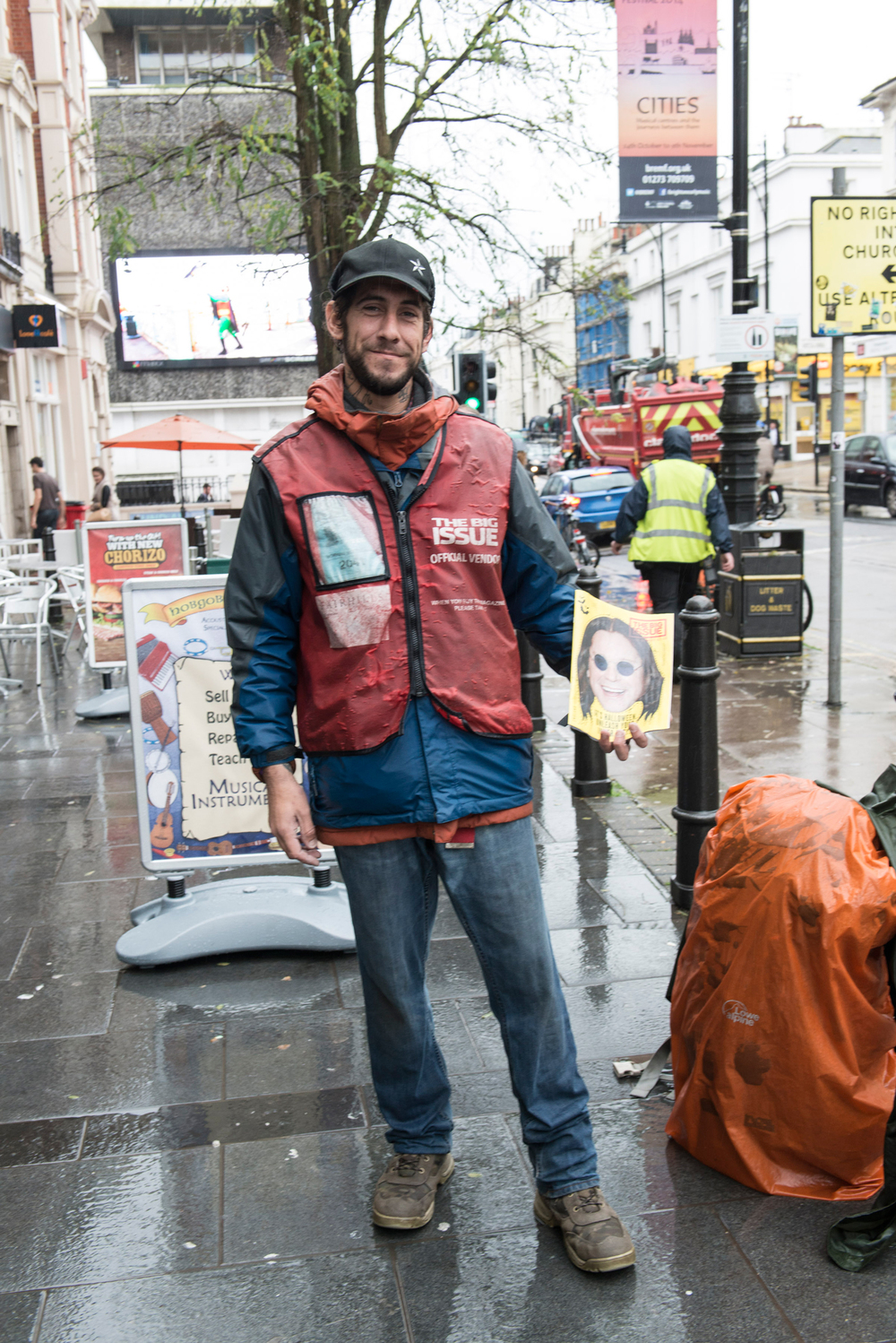 Big Issue Seller Magazine Portrait