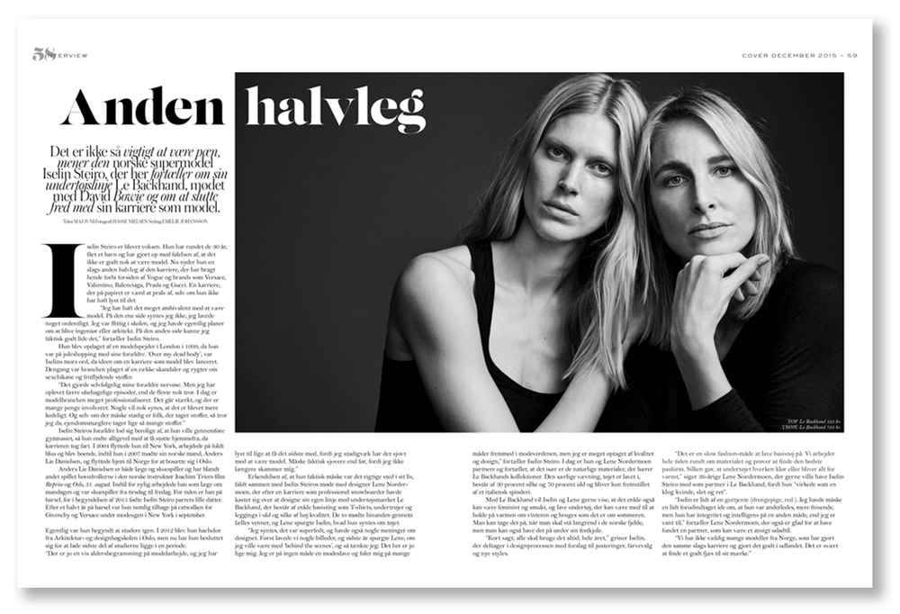 Iselin i danske Cover, Desember 2015