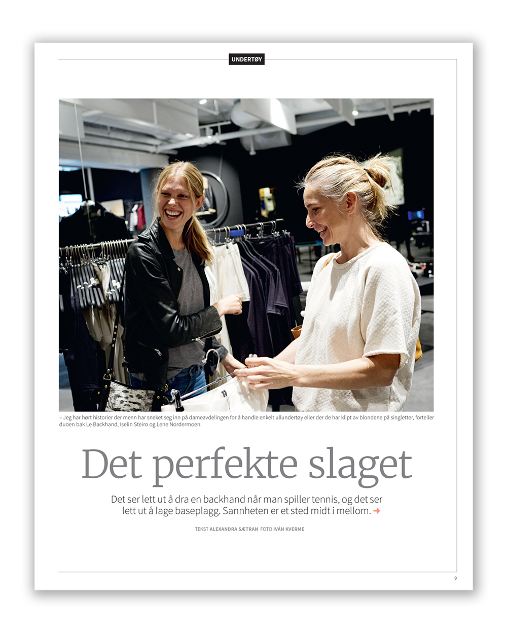 Iselin and Lene in Finansavisen October 2015