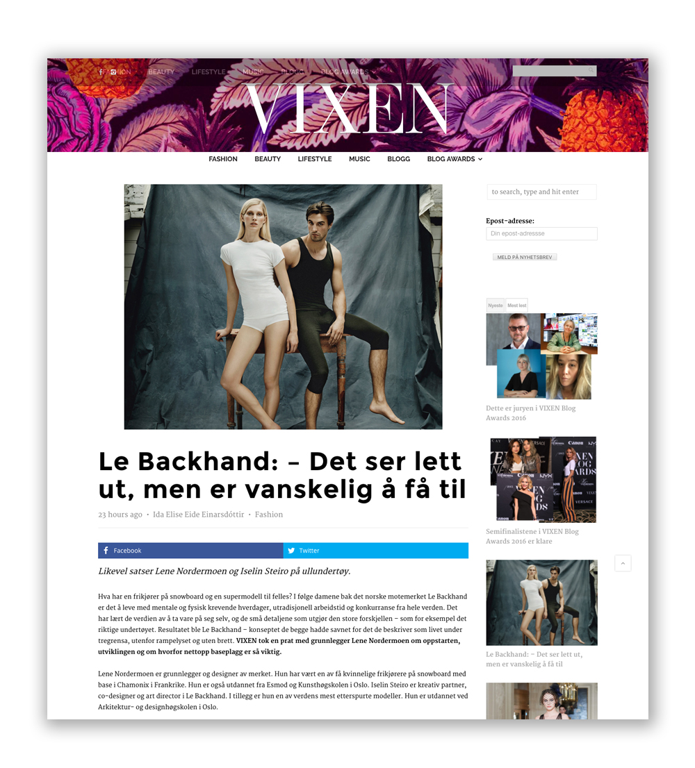 Vixen blog December 2016 (In Norwegian!)