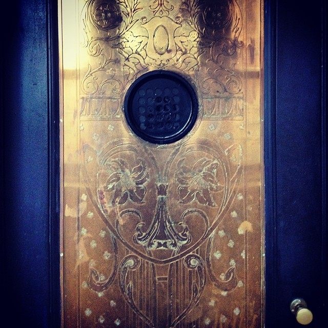 best elevator door ever #brooklyn #oldnewyork