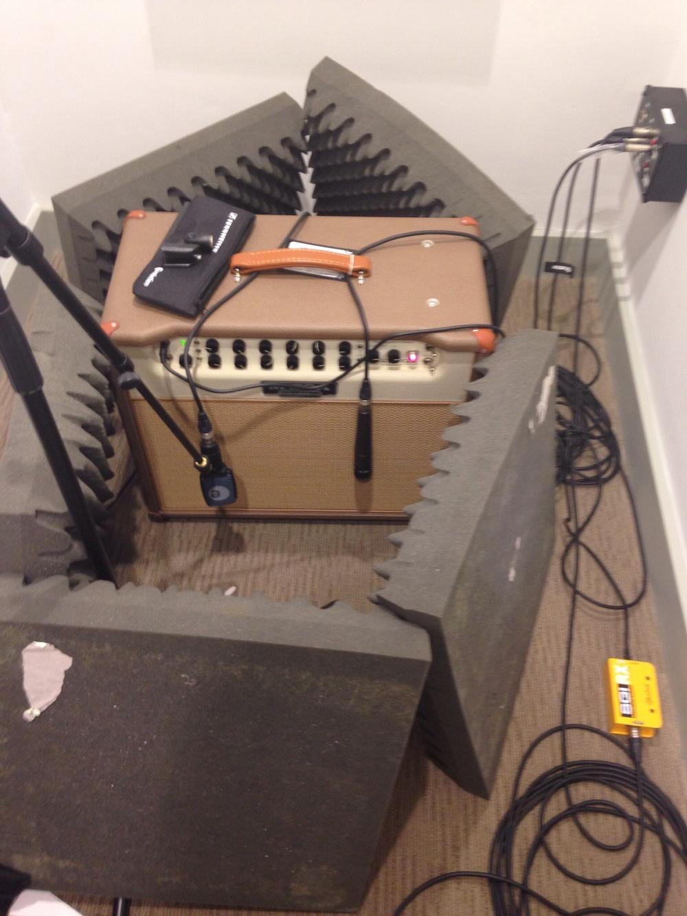 Mesa Lonestar Setup for Session 1 (Before I blew the output tube!)