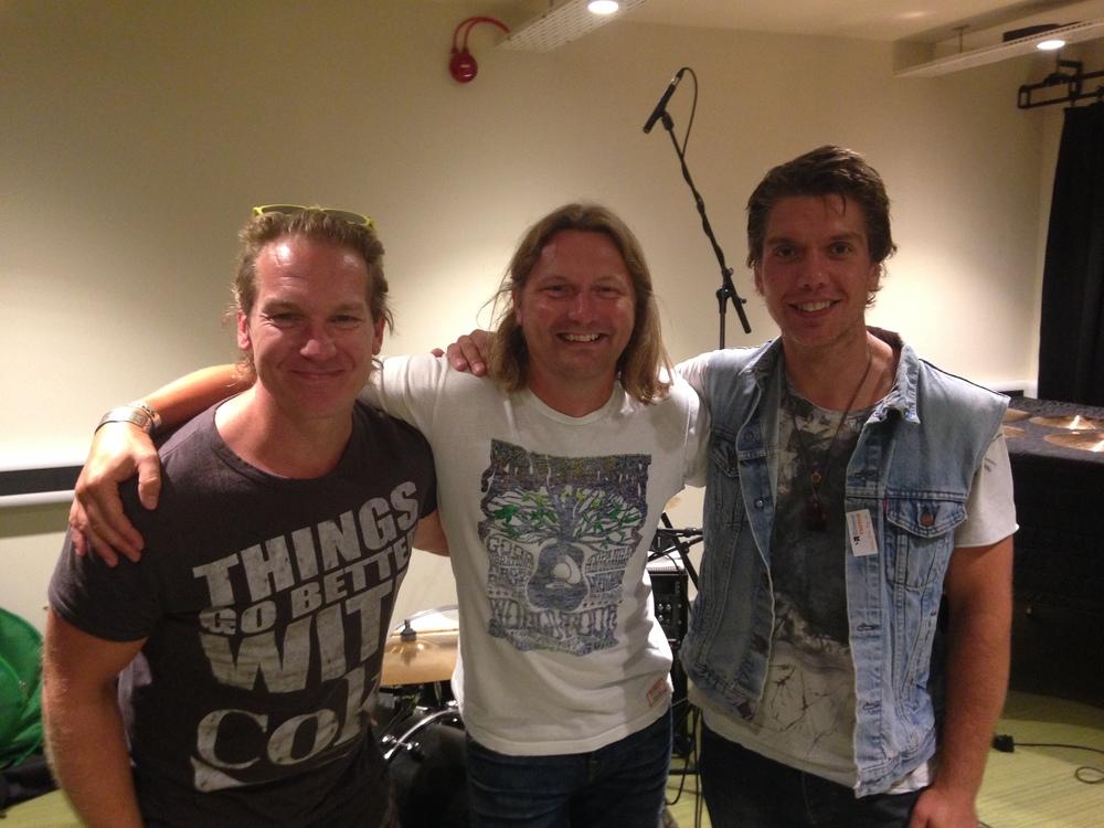 L-R. Jamie Little (Drums), Steve (Guitars), Christian Nokes (Bass).