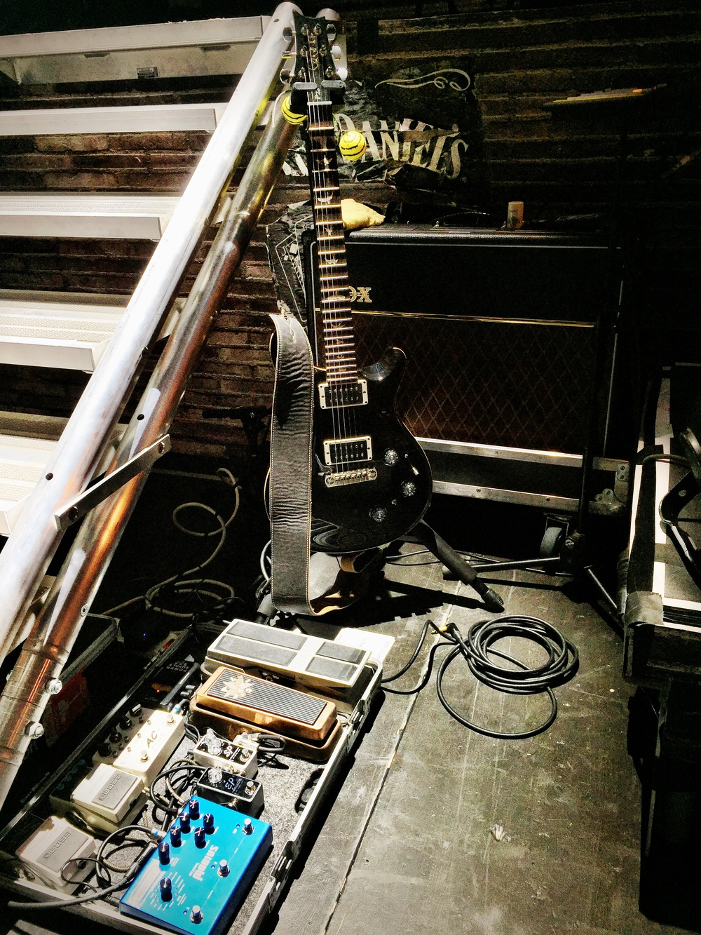 PRS P22 and board for the Blues Brothers Tour 2015.