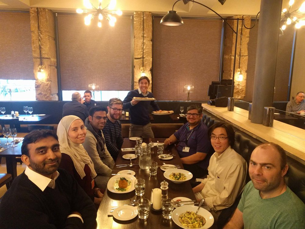 Prof Basit Yameen (LUMS pakistan; front left) and prof carsten mim (kth stockholm) visits the group for our hfsp collaboration annual meeting -- oct 9-10, 2017.