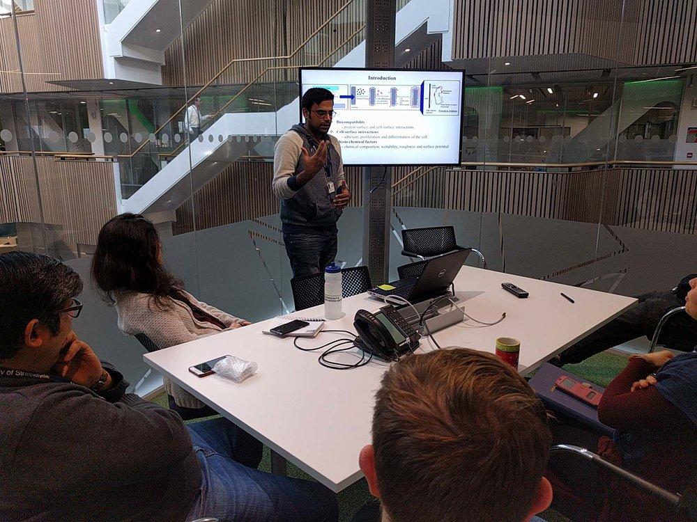 Nov 9 - Abshar gives group meeting presentation