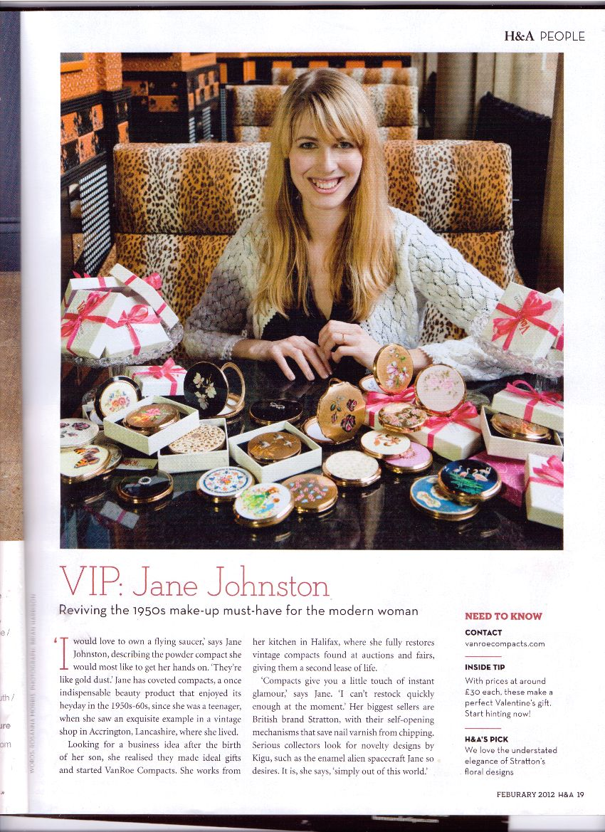I'm impersonating a VIP in this month's Homes & Antiques Magazine