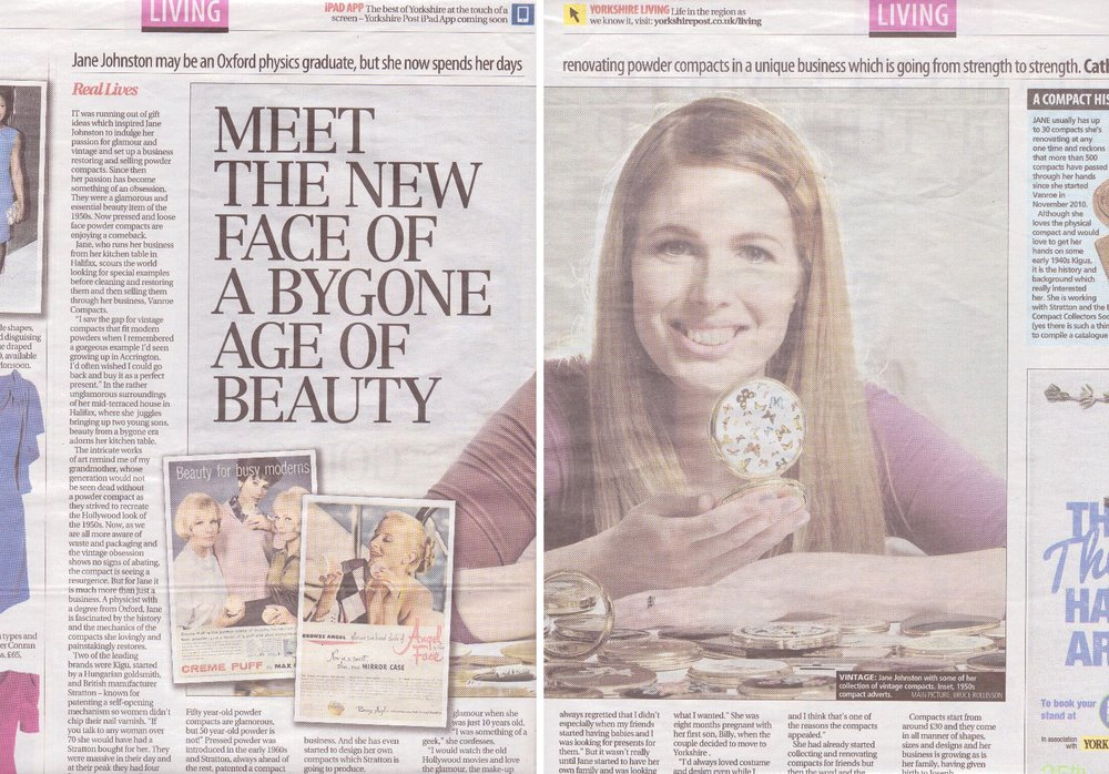 1203 Yorkshire post vanroe article spread