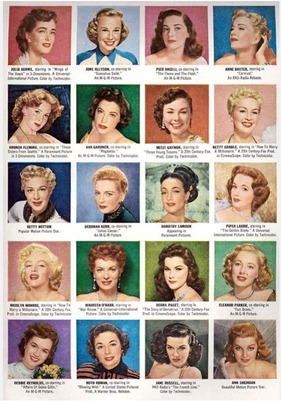 1950s filmstar hair makeup ideas