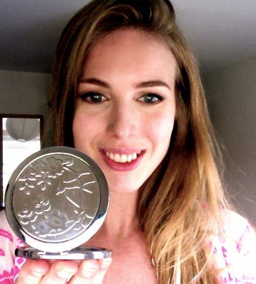 Here you see me holding my first sample of pressed pewter, the start of a new collection.