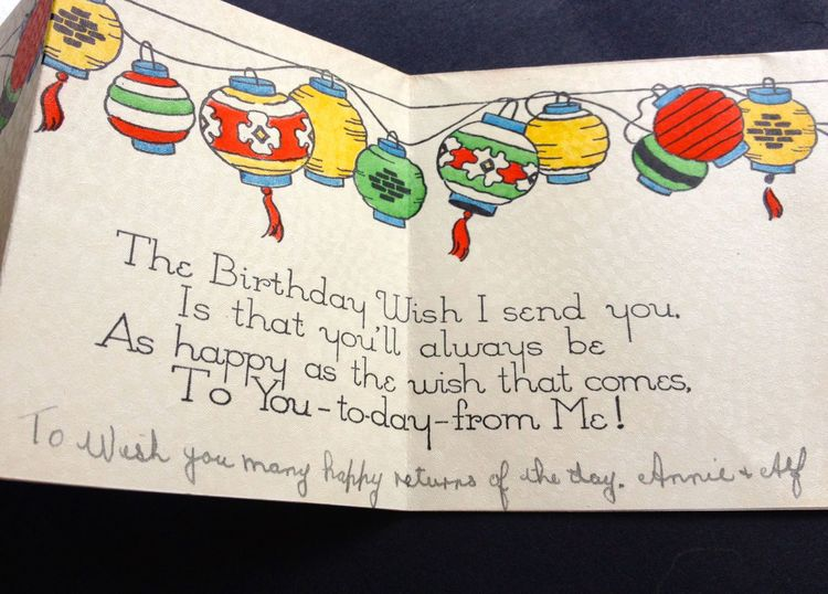 Happy birthday messages how to write a birthday card for her a 1930s card with the message the birthday wish i send to you is that bookmarktalkfo Choice Image