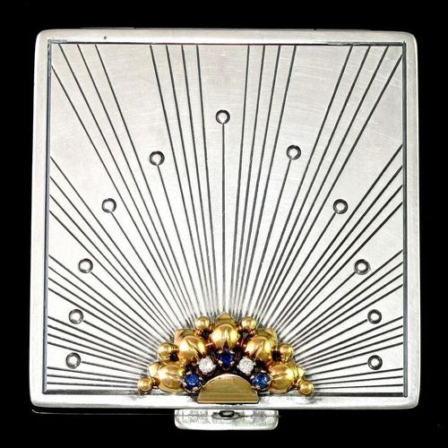 You can see the Art Deco lines from this vintage 1920s compact in my final design.