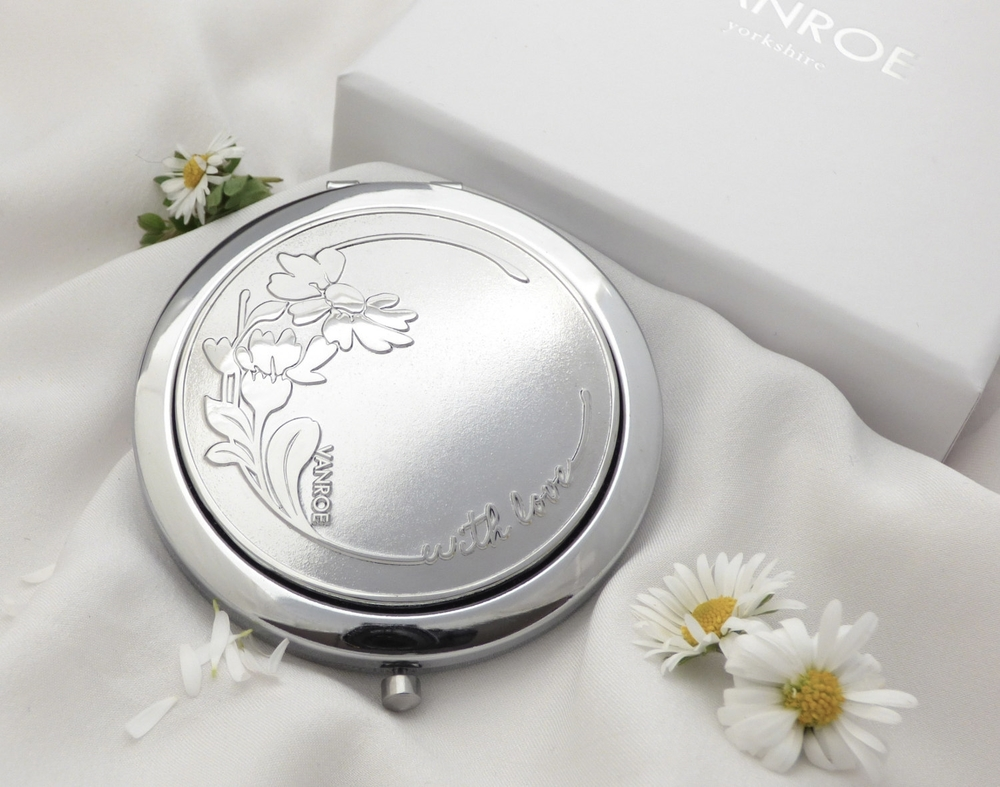 daisy compact mirror gift designer