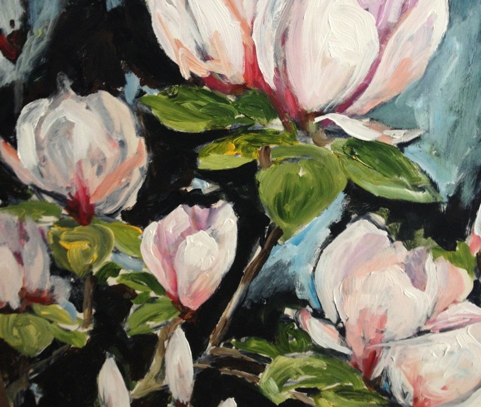 My painting to explore the colours for the new compact. Just in love with the pinks in this flower!