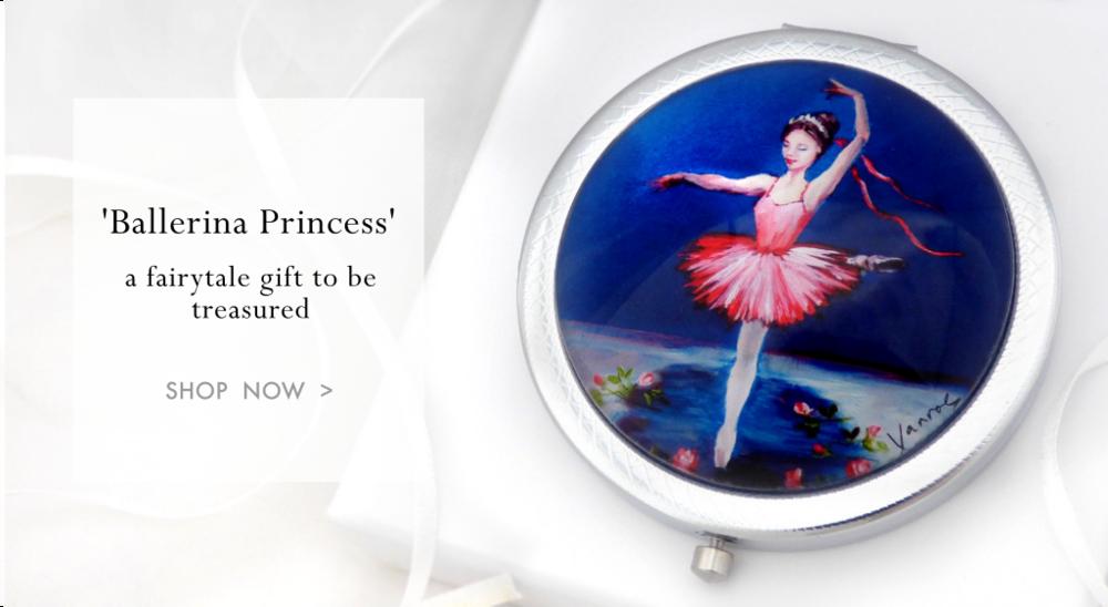 ballerina princess compact mirror gift vanroe