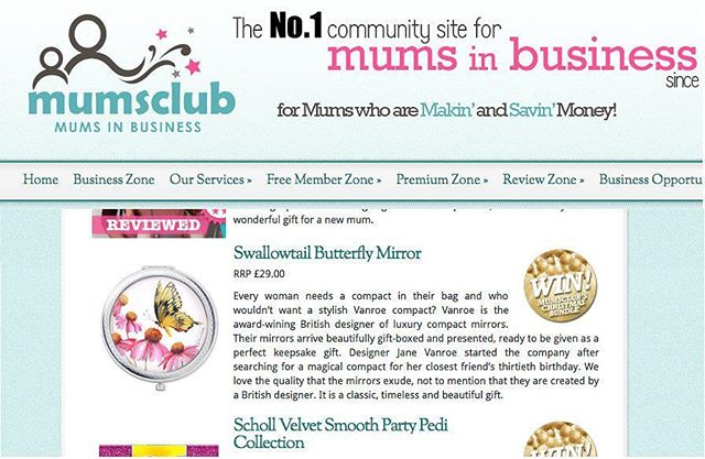 'who wouldn't want a stylish Vanroe compact?' - Lovely review in MumsClub Christmas Gift Guide 2016 this week! #press #giftguide #gifts #mumsclub #review #mumgift #ukdesign #design #designer #illustration #illustrate #illustrator #maker #media #giftideas