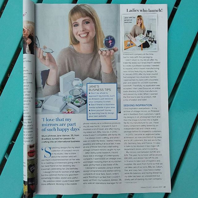Totally delighted to be featured in Prima magazine this month! You can see behind the scenes pics from  the shoot over on our blog! x #designer #ukdesign #vanroe #prima #maker #illustration #illustrate #illustrator #business #womeninbusiness #mumtrepreneur #mom