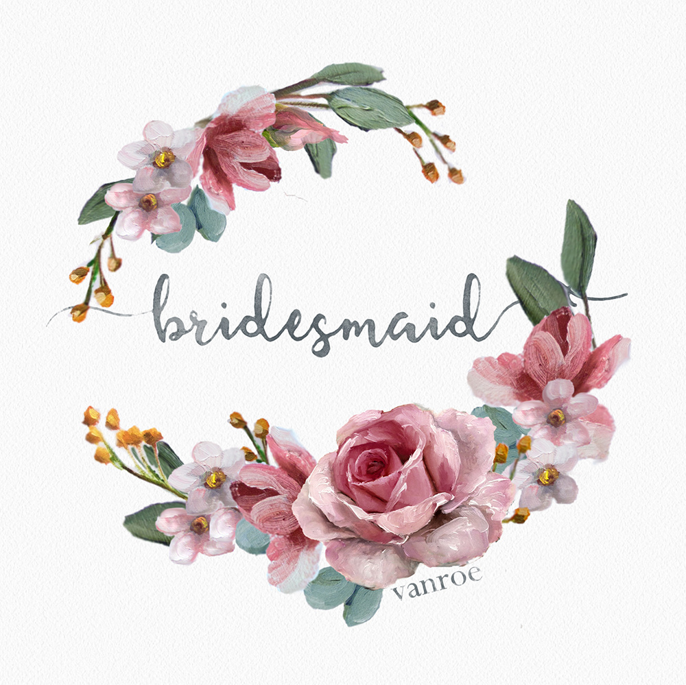 bridesmaid compact mirror design vanroe