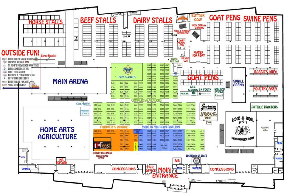 Backwoods Mustard Company will be in booth #1007. Click to enlarge map.