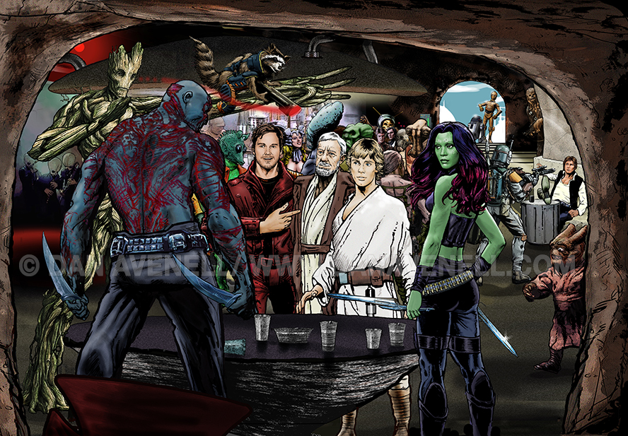 Guardians In A Galaxy Far, Far Away