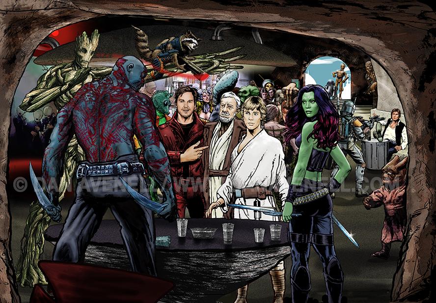 Guardians In A Galaxy Far, Far Away