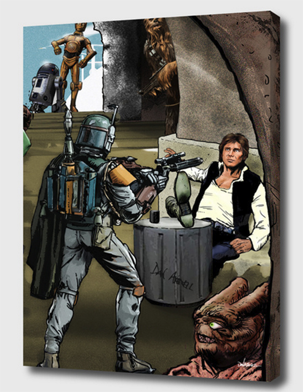 Advantage Fett Mounted Canvas Wrap - the art wraps around the edges of the canvas